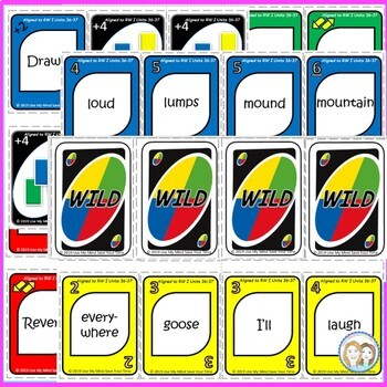 Uno-like Fluency Game - Read Well Units 36 - 37 {76 Pattern and Tricky Words}