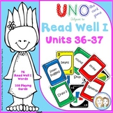 READ WELL 1 Activity Uno-like Fluency Game Units 36-37