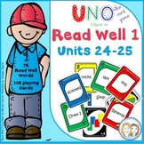Read Well 1 Uno Game 76 Words from Unit 24 and Unit 25