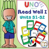 Read Well 1 Uno Game to Develop Fluency for Read Well 1 Units 31 and 32