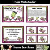 Literacy Center--Frankenswine Sight Word Games Mega Bundle (First 300 Fry Words)