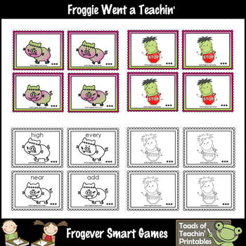 Literacy Center--Frankenswine Sight Word Game (Third 100 Fry Words)
