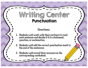 Literacy Center Freebie! {Punctuation}