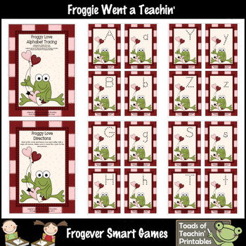 Valentine's Day---Froggy Love Alphabet Tracing