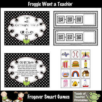 Compound Words--Fun with Compound Words & QR Codes