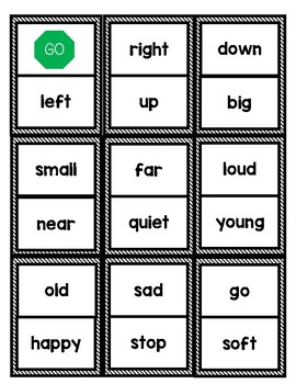 Literacy Center Game: Antonym Dominoes