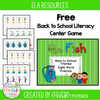 Literacy Center Game - Dolch Sight Words -Back to School themed