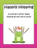 Literacy Center Game Happily Hopping Words Ending With ed and ing