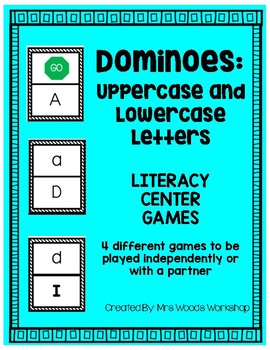 Literacy Center Game: Letter Identification Dominoes