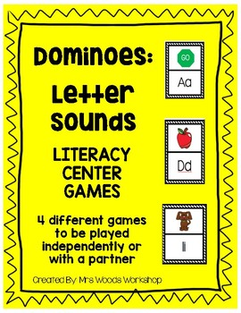 Literacy Center Game: Letter Sound Dominoes