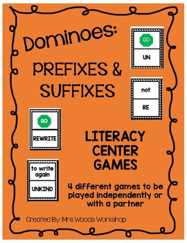 Literacy Center Game: Prefix and Suffix Dominoes