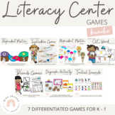 Literacy Center Games Bundle {K-1)