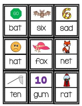 Literacy Center Games: CVC Dominoes