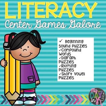 Literacy Center Games Galore