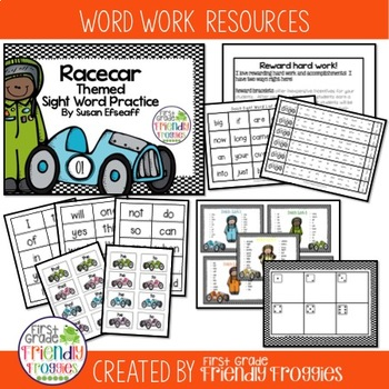 Literacy Center Games -Racecar themed- Dolch Sight Words