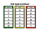 Literacy Center Games - Roll, Spell, Read