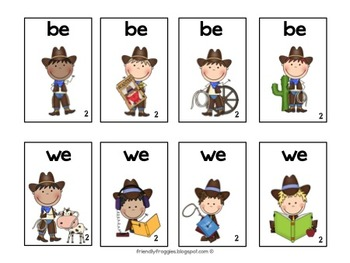 Literacy Center Games -Western themed - Dolch Sight Words