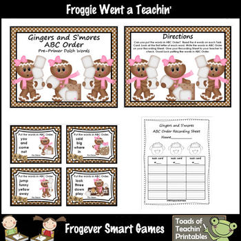 ABC Order--Gingers and S'mores ABC Order Bundle (4 words/first letter)