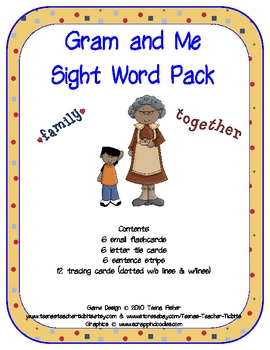 Literacy Center Gram and Me Sight Word Pack Treasures Reading Series