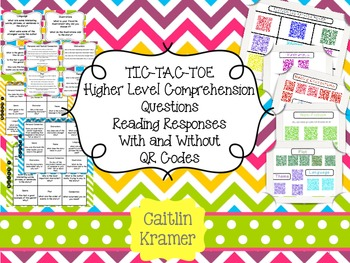Literacy Center: Higher Level Comprehension Questions with
