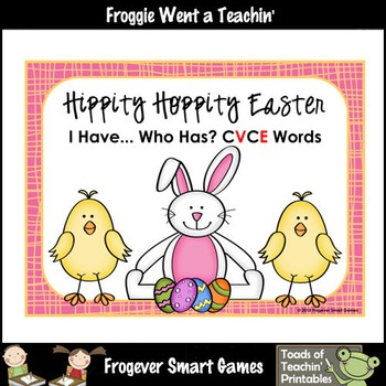 Easter--Hippity Hoppity Easter I Have... Who Has? CVCE Words