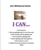 """Literacy Center """"I Can"""" Directions for students"""