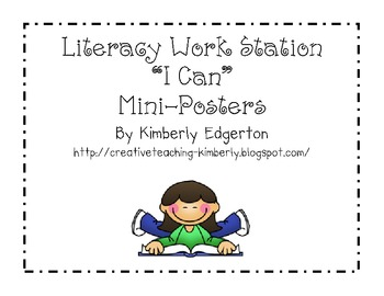 """Literacy Center """"I Can"""" mini-posters"""