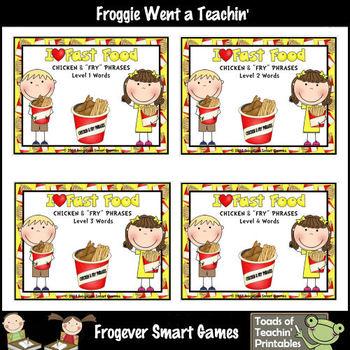 "Literacy Center -- I Love Fast Food Chicken & ""Fry"" Phrases Mega Bundle"