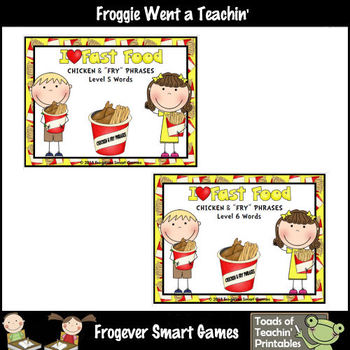 "Literacy Center -- I Love Fast Food Chicken & ""Fry"" Phrases Mega Bundle"