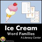 Literacy Center - Ice Cream Word Families
