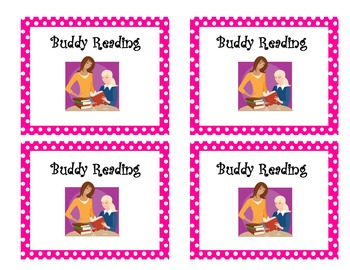 Literacy Center Icons for Hanging and Rotation Chart