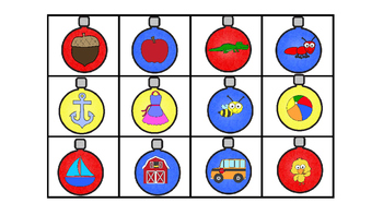 Literacy Center Idea Beginning Sounds Match the Ornaments to the Trees