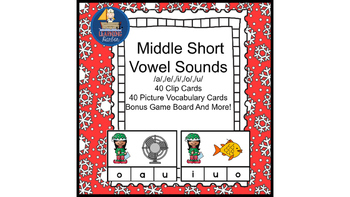 Literacy Center Idea Short Middle Vowels a,e,i,o,u with a