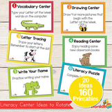 Literacy Center Ideas for Pre K