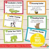 Literacy Center Ideas for Pre K