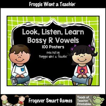 Bossy R Vowels--Just Clip n' Learn Bossy R Vowels/Bonus Bossy R Posters