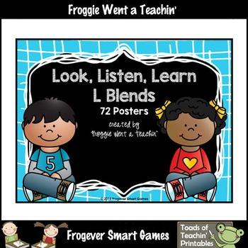 Literacy Center--Just Clip n' Learn L Blends/Bonus L Blends Posters