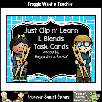 Literacy Center--Just Clip n' Learn L Blends/Bonus L Blends Posters