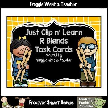 Literacy Center--Just Clip n' Learn R Blends/Bonus R Blends Posters