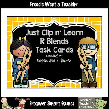 Literacy Center--Just Clip n' Learn R Blends/Bonus R Blends Posters
