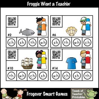 Literacy Center--Just Dab n' Scan Beginning Digraphs/QR Codes