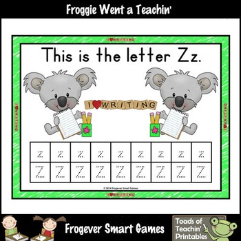 Alphabet--Koala Writers Down Under Alphabet Tracing Cards