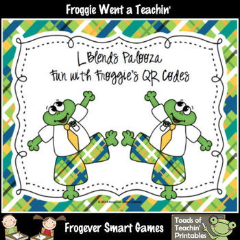 Literacy Center--L Blends Palooza Fun with Froggie's QR Codes