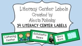 Literacy Center Labels (Green)