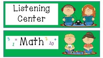 Literacy Center Labels (Green)