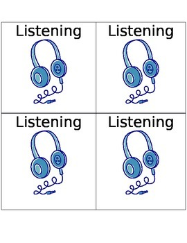 Literacy Center Labels -Listening