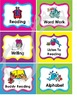 Literacy Center Labels (Ocean Theme)