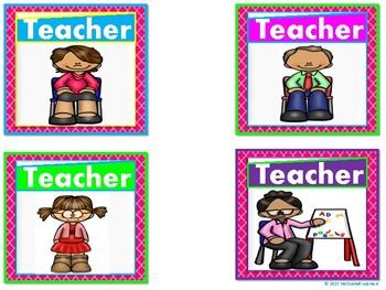Literacy Center Labels  (Pocket Chart)