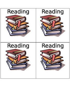 Literacy Center Labels -Reading