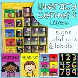 EASY Literacy Center Labels and Rotation